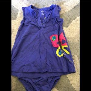 Carter's 6 month girls dress purple butterfly 🦋